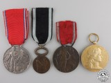 Four Named French Medals and Awards