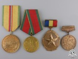 Four Romanian Agricultural Medals and Awards
