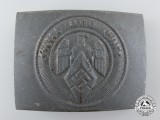 An HJ Belt Buckle by Hillenbrand & Bröer, Lüdenscheid; Published Example