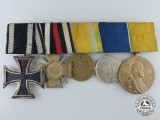 A First War Prussian & Saxon Long Service Medal Bar
