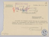 A 1938 Position Resignation Document of Erwin Rommel, with his Signature