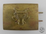 An Early Pattern German Butchers Trade Belt Buckle; Published Example