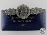 A Silver Grade Reconnaissance Clasp with Case to Luftwaffe Oberleutnant Karl Schuh