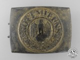 A Kriegsmarine Enlisted Man's Belt Buckle by Christian Theodor Dicke
