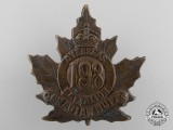"A First War 198th Infantry Battalion ""Canadian Buffs"" Cap Badge"