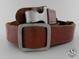 A Brown Leather Shoulder Strap; RZM Marked