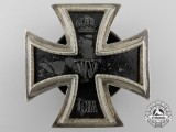 An First Class Iron Cross 1914; Third Reich Screwback