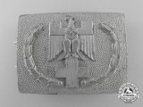 A 1938 Pattern German Red Cross Enlisted Man's Belt Buckle; Published Example