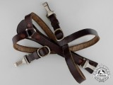 A Set of Second War Leather German Army Suspenders