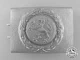 A Third Reich Hesse Fire Defence Service Enlisted Man's Belt Buckle; Published Example