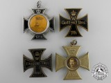 Four First War German Memorial Iron Cross Badges