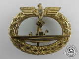 A Kriegsmarine Submarine War Badge by W. Deumer