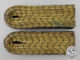 A Pair of German Forestry Shoulder Boards