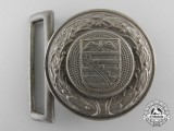 A Third Reich Saxony Fire Defence Service Officer's Belt Buckle