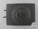 A Rare Dutch or Belgian Produced German Army Belt Buckle; Published Example