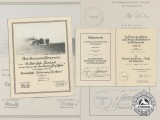 A Group of Award documents to Stabsbootsman Erich Coriand