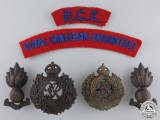 Second War Royal Canadian Engineers Insignia Group