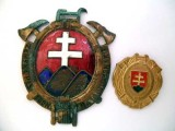 TWO FIREMAN'S BADGES