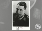 A Post War Signed Photograph of Knight's Cross Recipient; Ernst Ebeling
