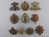 Ten First War British Cap Badges