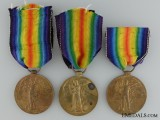 Three First War British Victory Medals