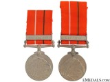 Two Indian Sainya Seva Medals