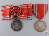 Two Japanese Red Cross Medals