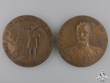 Two Russian Commemorative Table Medals