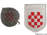 Two Russian Front Croatian Badges