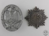 Two Second War German badge and Awards