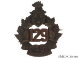 WWI 129th Infantry Battalion Cap Badge CEF