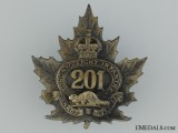 WWI 201st Infantry Battalion Cap Badge CEF