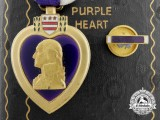A Purple Heart to Staff Sergeant Collinge 721st Bomb Squadron USAAF; KIA in Italy 1944