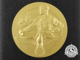 A Reichenberg Chamber of Commerce Loyal Service Award Medal with Case