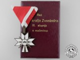 A Second War Croatian Order of King Zvonimir 1941-45 with Swords