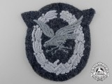 A Luftwaffe Radio Operator & Air Gunner Badge; Cloth Version