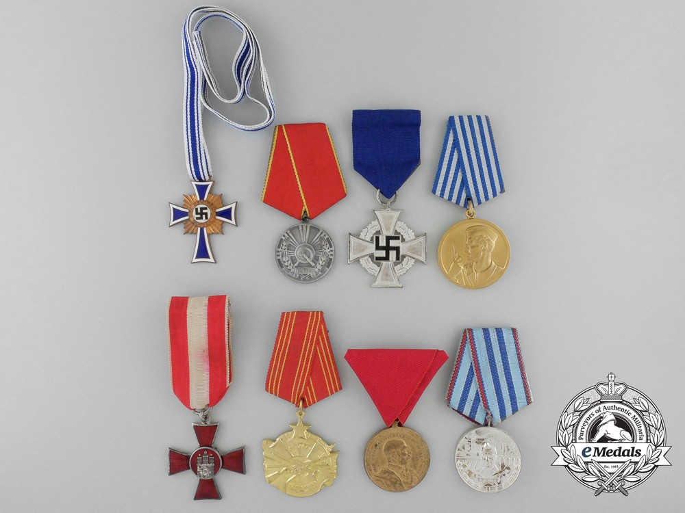 A lot of eight european medals decorations and awards for Awards decoration