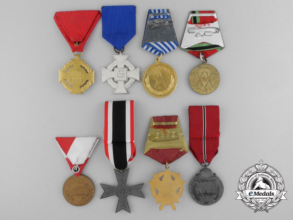 Eight european medals awards and decorations europe for Awards and decoration