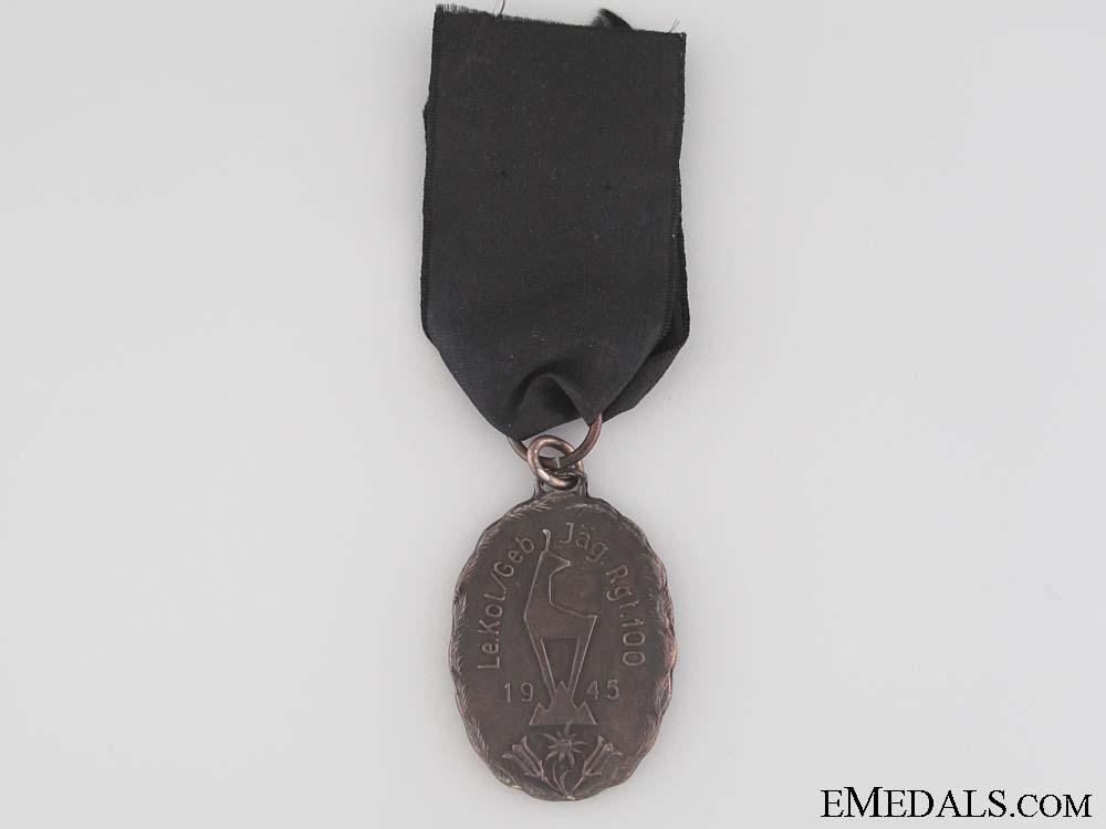eMedals-100th Gebirgsjäger Regt. in the Italian Alps Medal