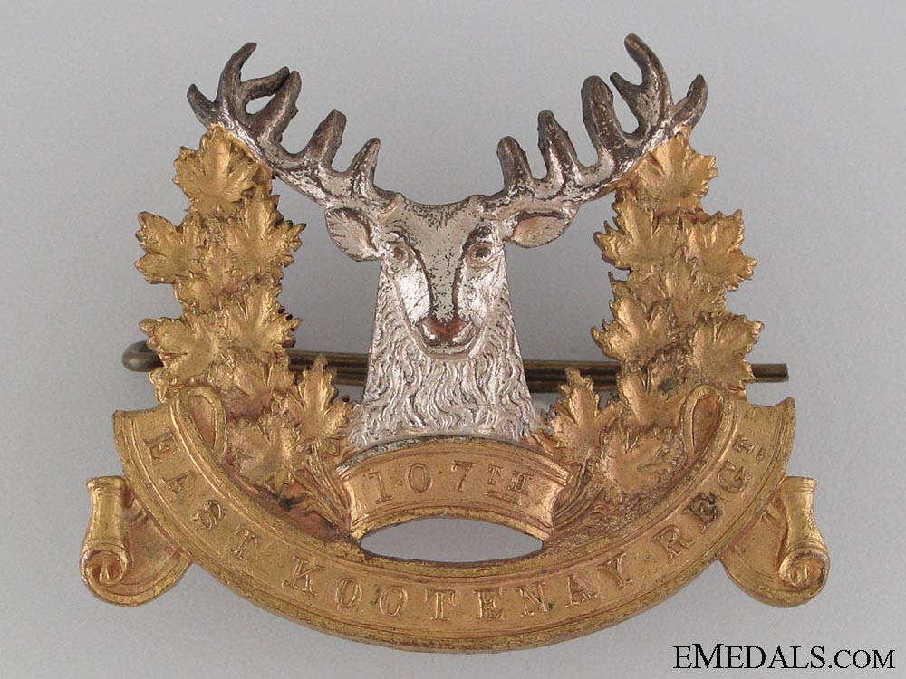 eMedals-107th East Kootenay Regiment Cap Badge CEF