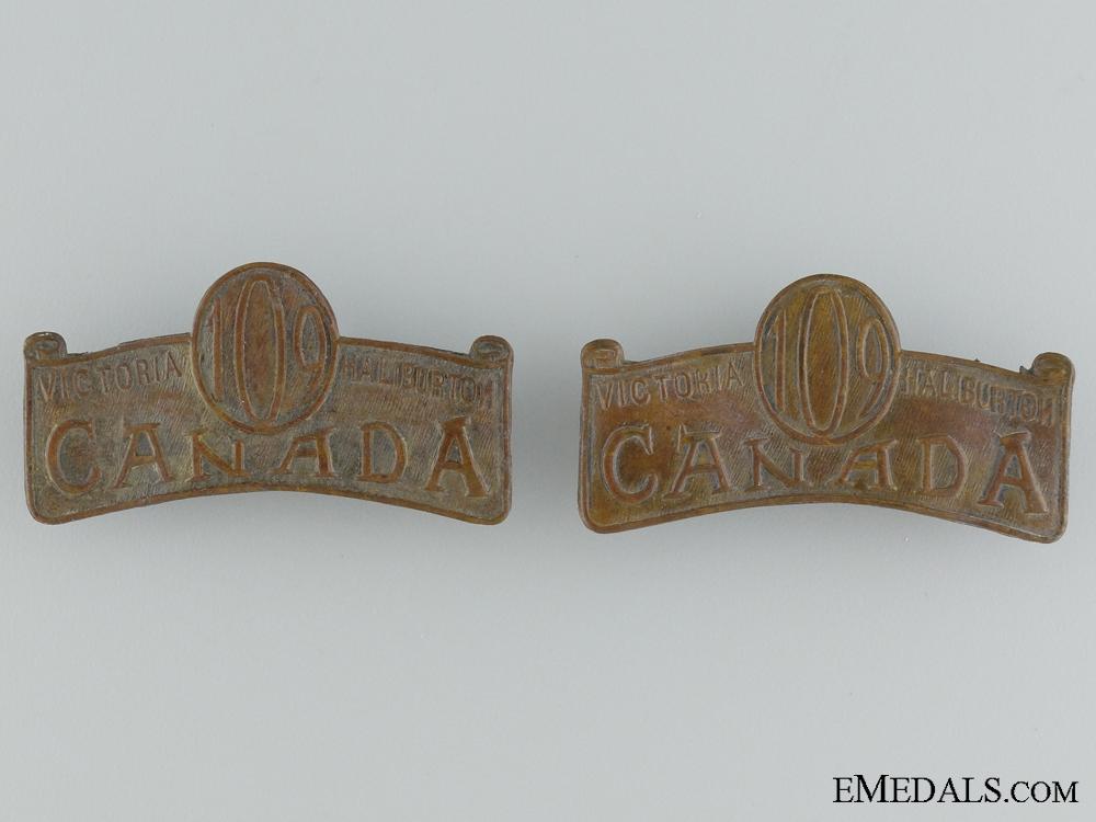 "eMedals-109th Infantry ""Victoria and Haliburton Battalion"" Officer's Shoulder Titles"