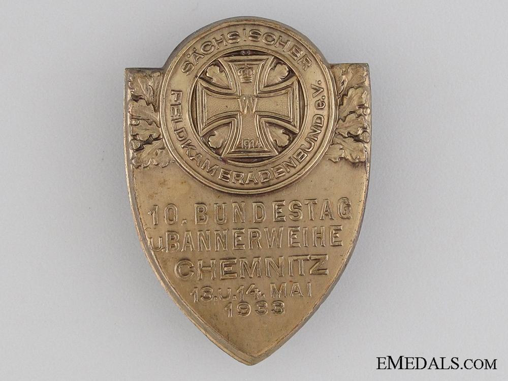 eMedals-10th Bundestag Saxon Veteran's Associations Gathering, Chemnitz Tinnie, 1933