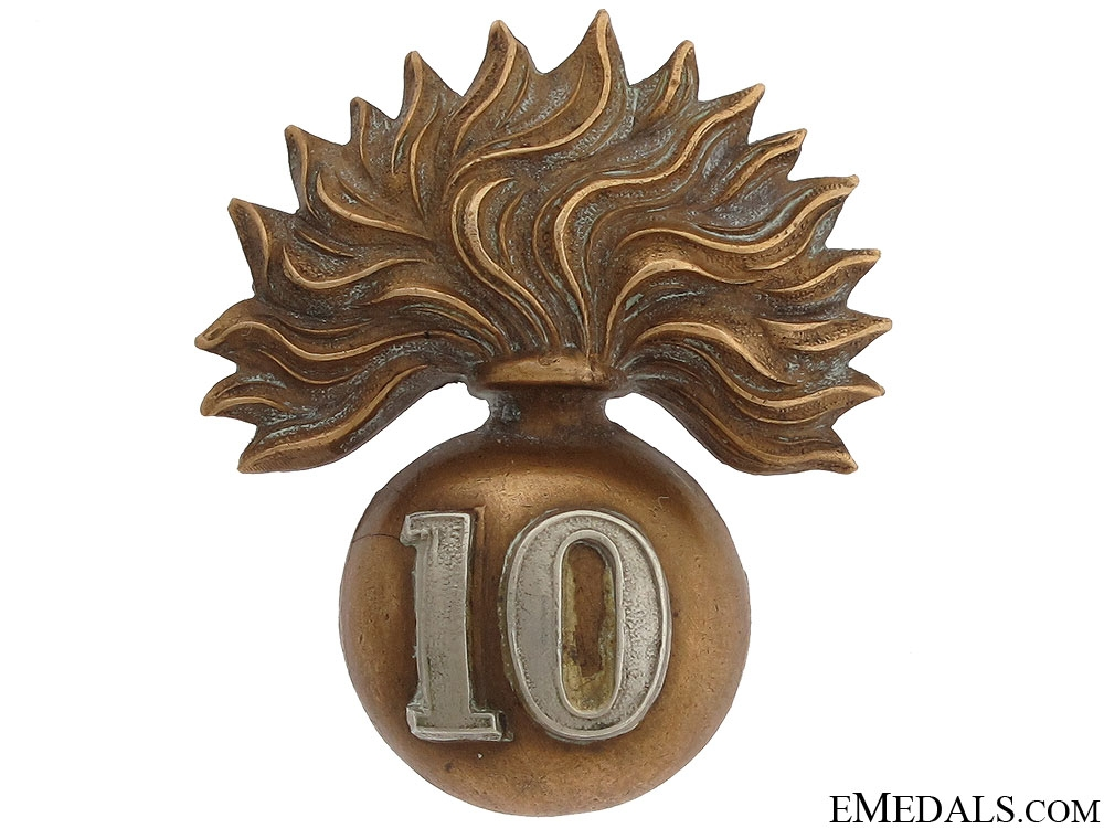 eMedals-10th Royal Grenadiers (Toronto) Officers Cap Badge