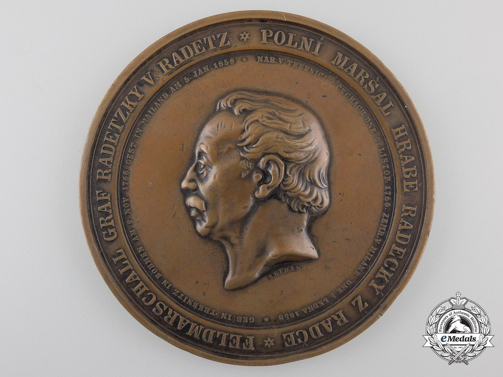 eMedals-An 1858 Austrian Field Marshal Radetzky Table Medal