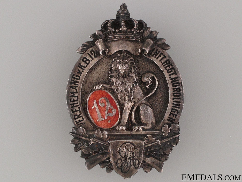 eMedals-12th Infantry Regiment Badge