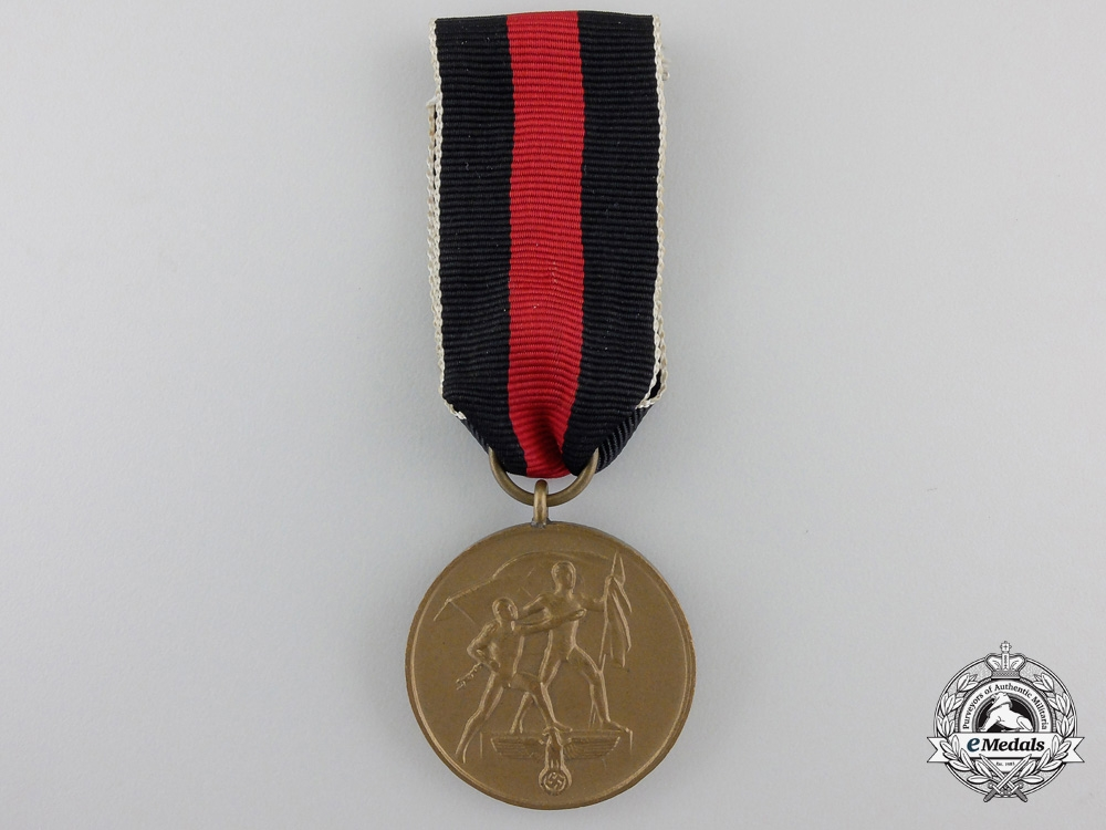 eMedals-A Commemorative Medal for 1 October 1938