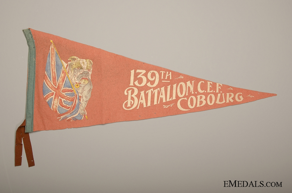eMedals-139th Battalion Cobourg CEF Pennant