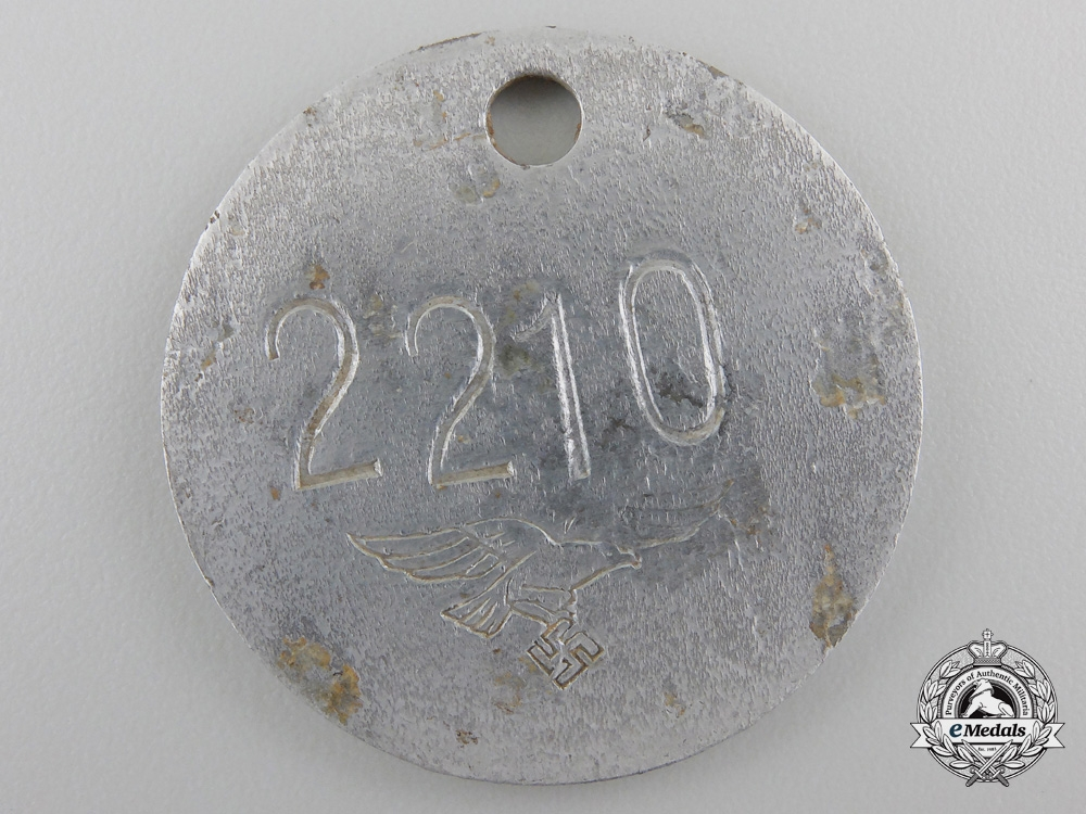 eMedals-A Luftwaffe Identification Tag