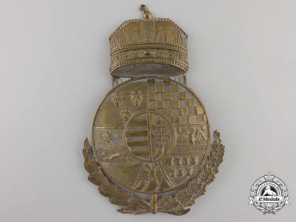 eMedals-A First War Period HungarianGendarmerie Shako Plate