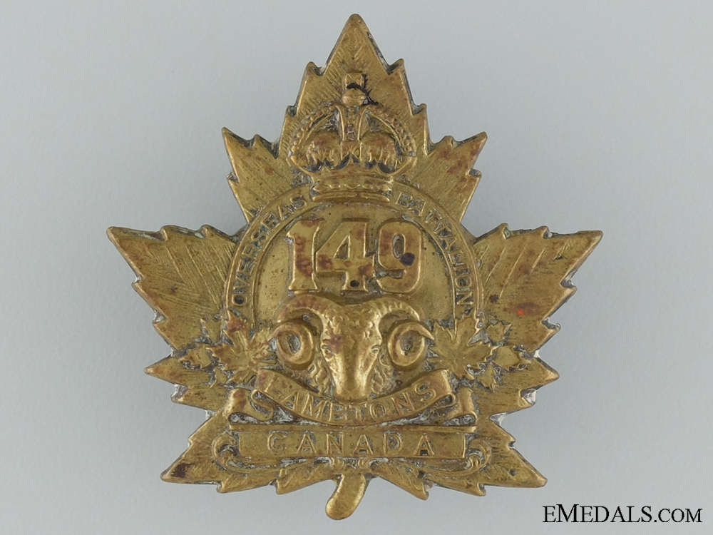 eMedals-149th Battalion (Lambton) Overseas Cap Badge